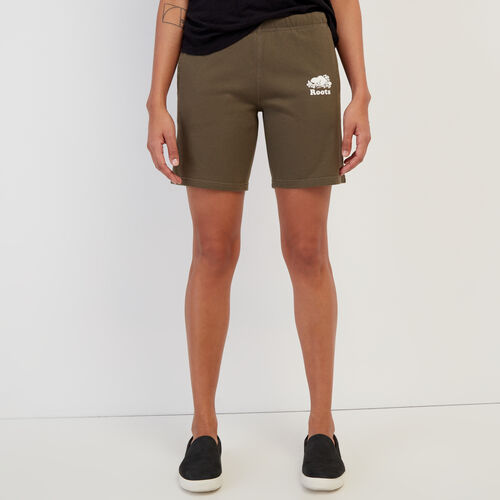 Roots-Women Shorts & Skirts-Original Longer Sweatshort-Fatigue-A