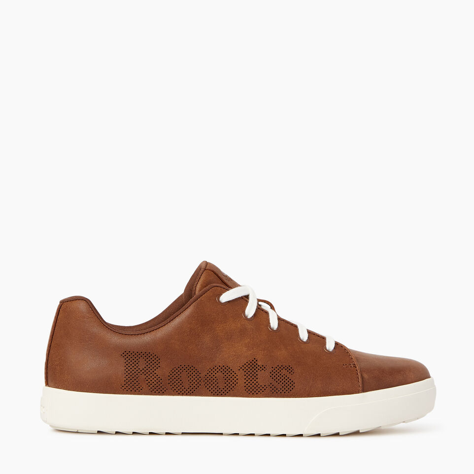 Roots-Footwear Our Favourite New Arrivals-Mens Rosedale Lace Sneaker-Natural-A