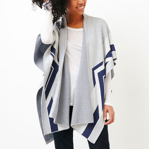 Roots-Women Accessories-Travel Wrap-Grey Mix-A