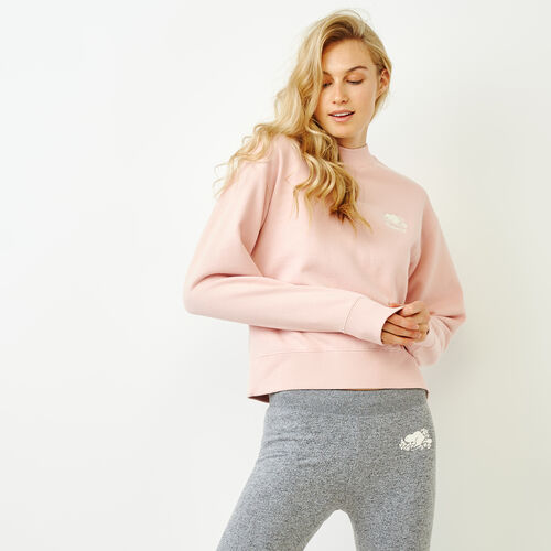 Roots-Women Categories-Sussex Crew Sweatshirt-Silver Pink-A