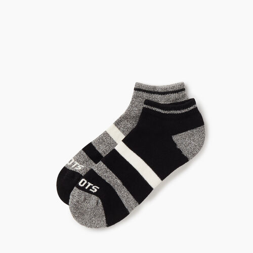 Roots-Women Accessories-Womens Roots Sport Ped Sock 2 pack-Black-A