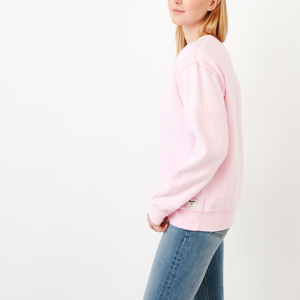 Roots-Women Our Favourite New Arrivals-Boyfriend Crew Sweatshirt-Pink Mist-C