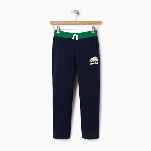 Roots-Clearance Kids-Boys Colour Block Sweatpant-Navy Blazer-A