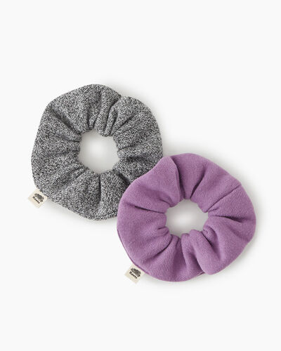 Roots-Women Hats-Everyday Scrunchie 2 Pack-True Violet-A