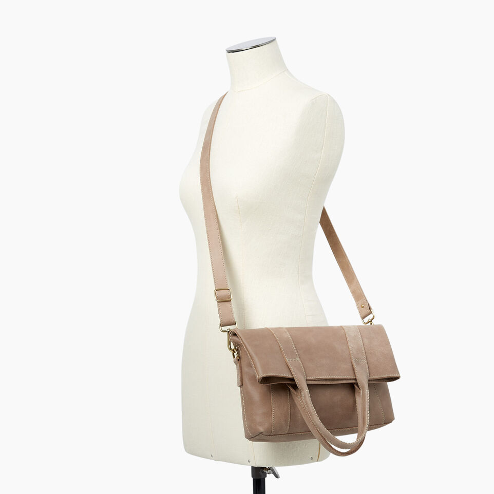 Roots-Leather  Handcrafted By Us Handbags-Annex Tote-Sand-B