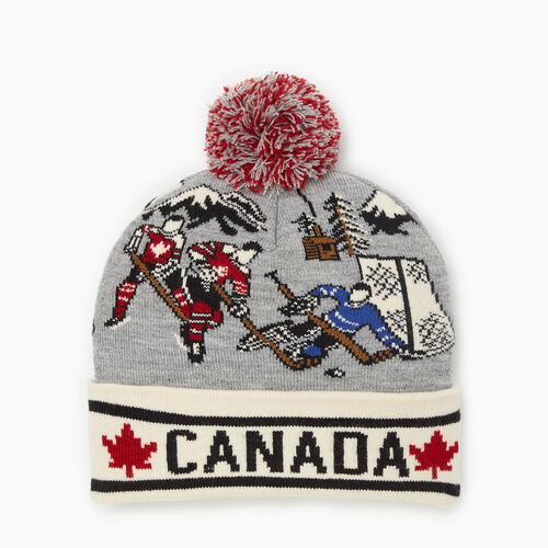 Roots-Men Accessories-Roots Vintage Hockey Toque-Med Grey Mix-A
