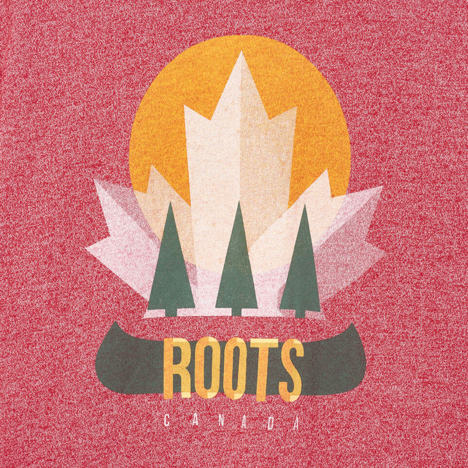 Roots-Men Our Favourite New Arrivals-Mens Nobel T-shirt-Sage Red Pepper-D