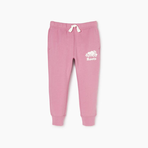 Roots-Kids Sweats-Toddler Slim Cuff Sweatpant-Mauve Orchid-A