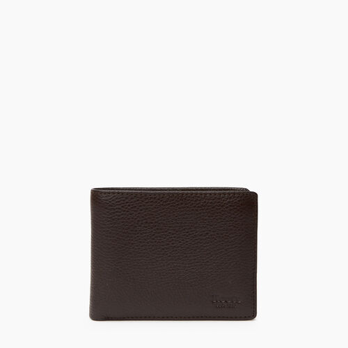 Roots-Men Categories-Mens Slimfold Wallet With Side Flap Prince-Chocolate-A