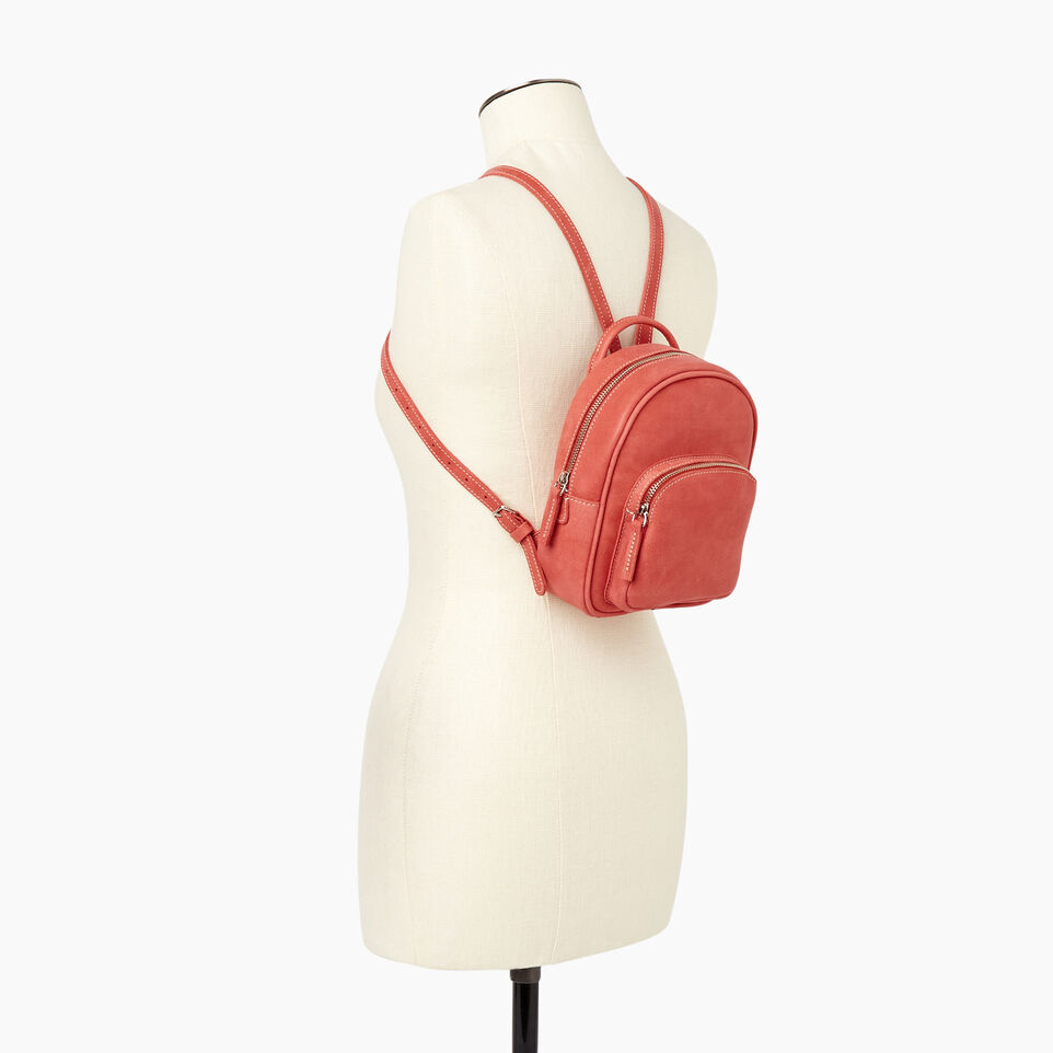 Roots-Leather New Arrivals-City Chelsea Pack-Coral-B