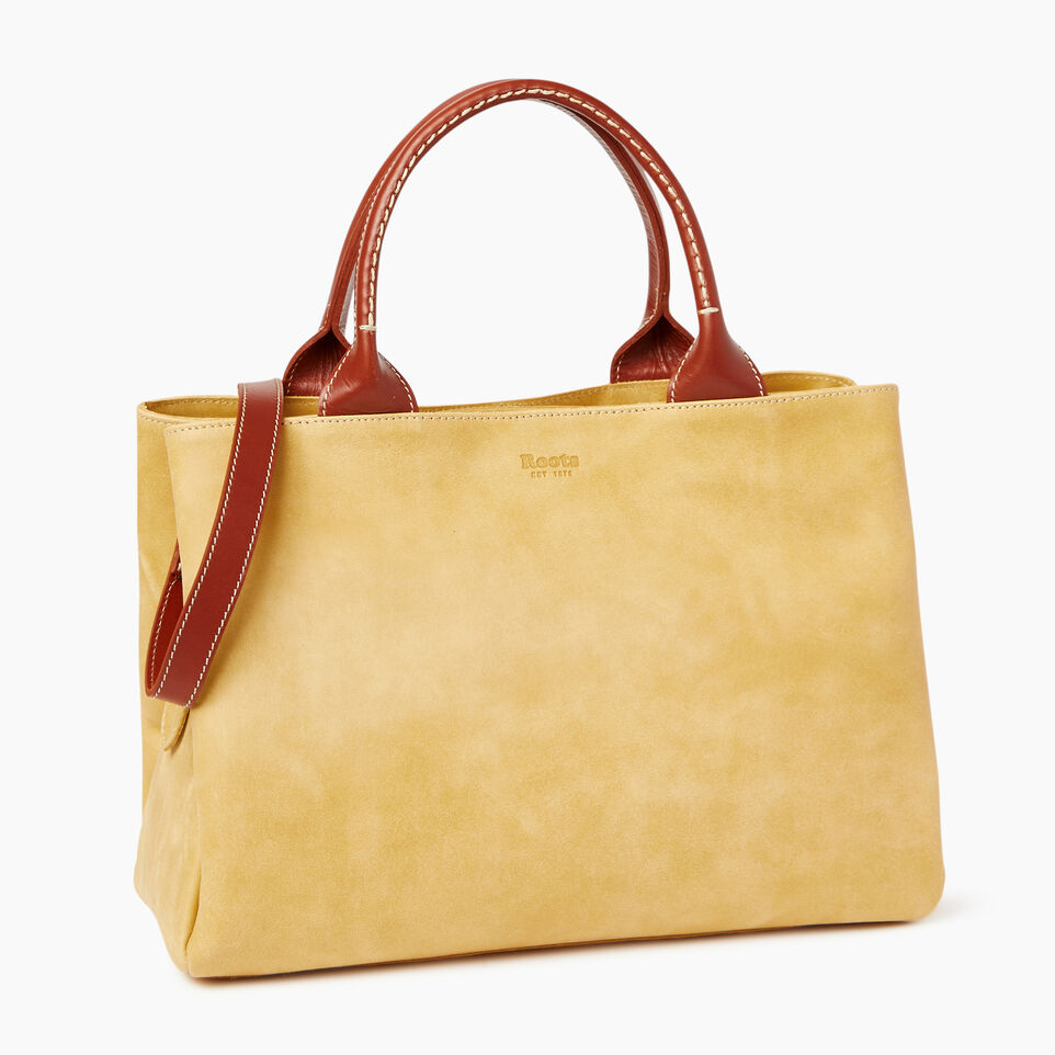 Roots-Leather  Handcrafted By Us Categories-Mont Royal Bag-Medallion/oak-A