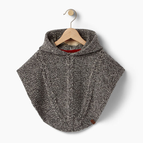 Roots-Winter Sale Toddler-Toddler Critter Poncho-Grey Oat Mix-A