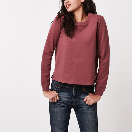 Roots-Women Long Sleeve Tops-Kootenay Jersey Long Sleeve  T-shirt-Wild Ginger-A