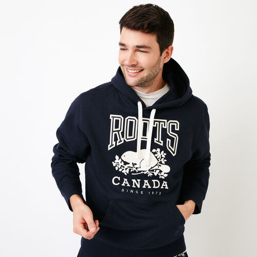 Roots-Men Our Favourite New Arrivals-Classic Kanga Hoody-Navy Blazer Mix-A