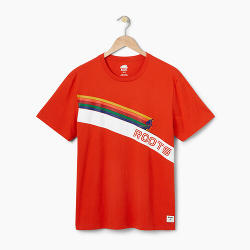Roots-Winter Sale Men-Mens Roots Ski T-shirt-Red Clay-A