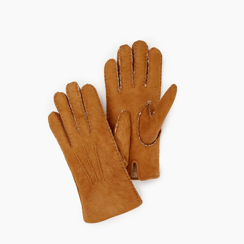 Roots-Leather  Handcrafted By Us Our Favourite New Arrivals-Womens Shearling Glove-Tan-A