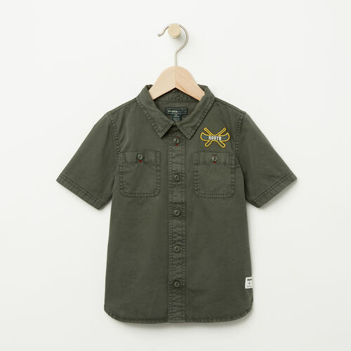 Roots-Kids Toddler Boys-Toddler Twill Utility Shirt-Climbing Ivy-A