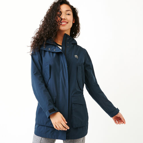 Roots-Women Jackets-Innisfil Spring Coat-Navy Blazer-A