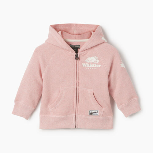 Roots-Kids Baby Girl-Baby Girl Whistler Full Zip Hoody-Dusty Blush-A