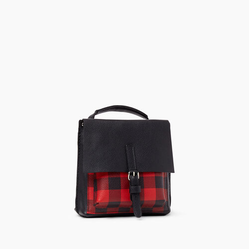 Roots-Women Backpacks-Park Plaid City Raiders Pack-Cabin Red-A