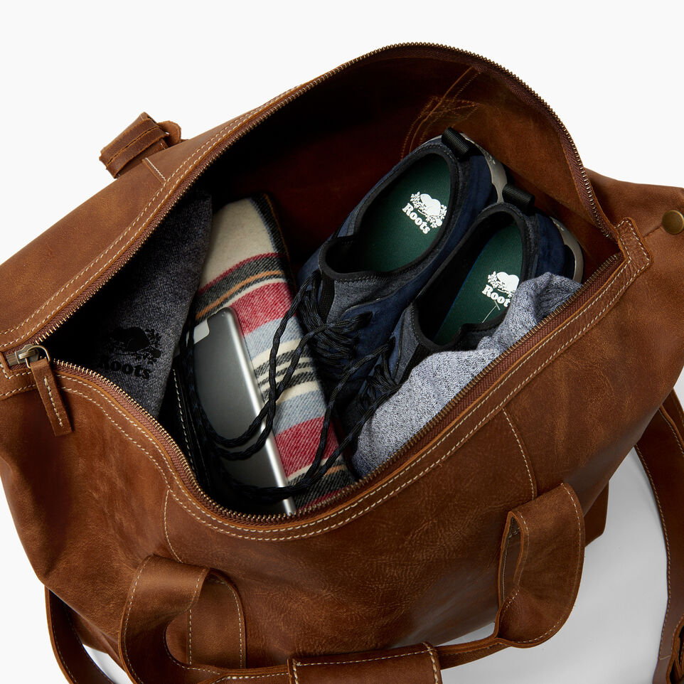 Roots-Leather Bestsellers-Whistler Weekender-Natural-D
