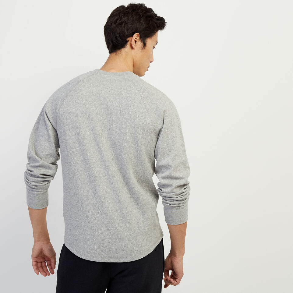 Roots-Men Our Favourite New Arrivals-Sun Peaks Thermal Henley-Grey Mix-D