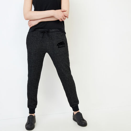Roots-Women Sweatpants-Original Slim Cuff Sweatpant-Black Pepper-A