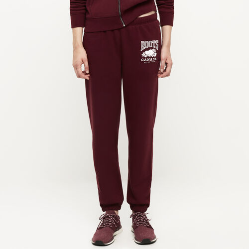 Roots-Women Bottoms-Classic Boyfriend Sweatpant-Northern Red-A