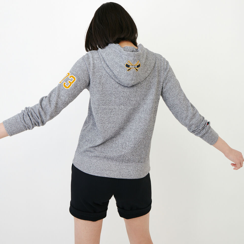 Roots-Women Our Favourite New Arrivals-Patches Full Zip Hoody-Salt & Pepper-D