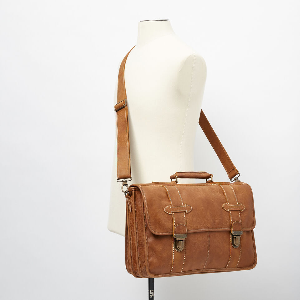 Roots-Leather  Handcrafted By Us Collections-Grad School-Natural-B