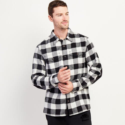 Roots-New For November Men-Park Plaid Shirt-White Mix-A