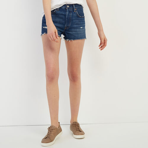 Roots-Women Shorts & Skirts-Levi's 501 Original Short-Med Denim Blue-A
