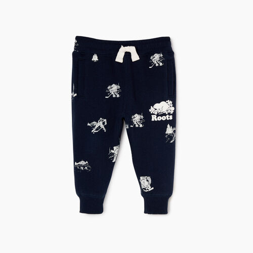 Roots-Sale Kids-Baby Hockey Aop Sweatpant-Navy Blazer-A