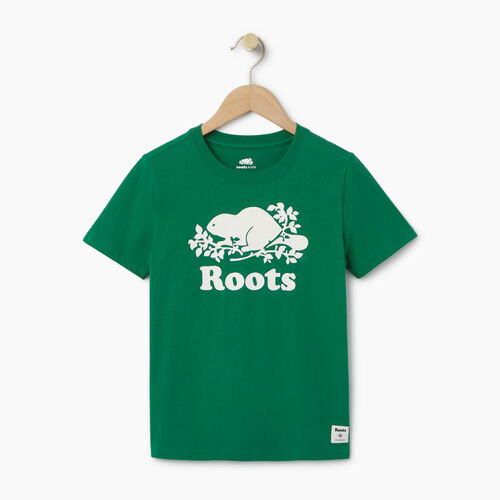 Roots-Kids Categories-Boys Original Cooper Beaver T-shirt-Verdant Green-A