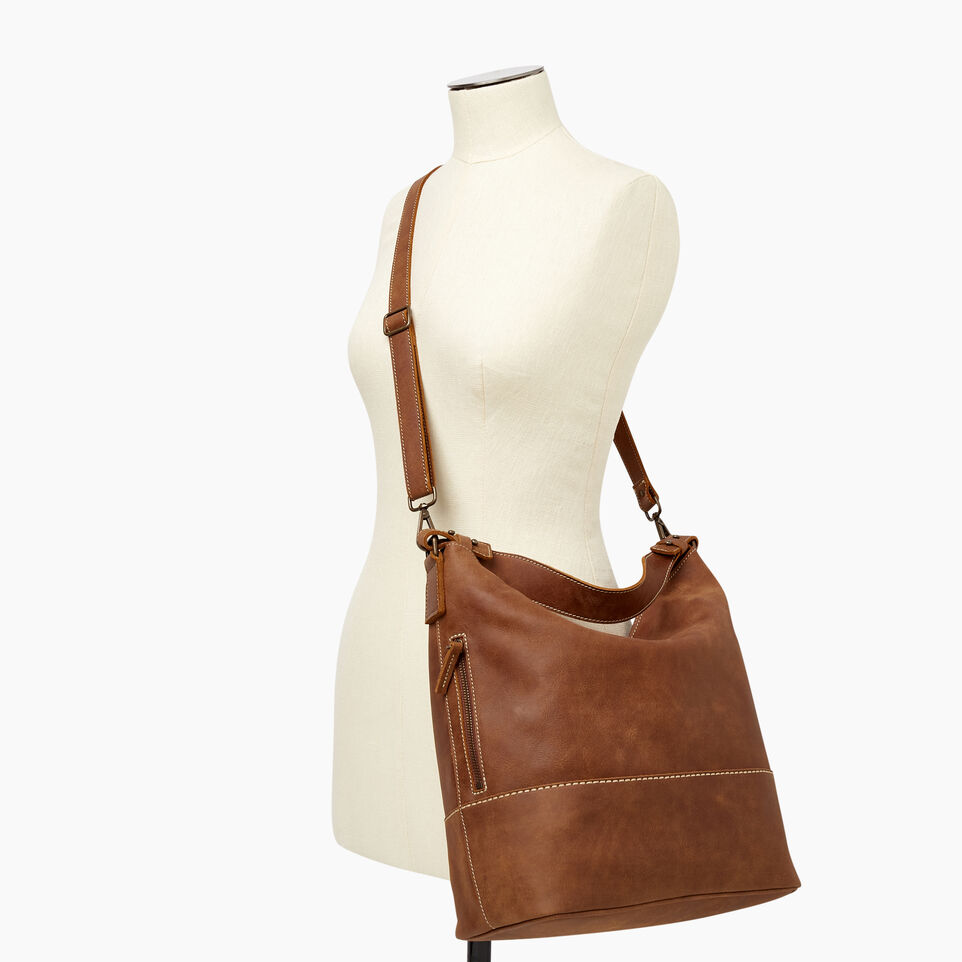 Roots-Leather  Handcrafted By Us Our Favourite New Arrivals-West End Hobo-Natural-B