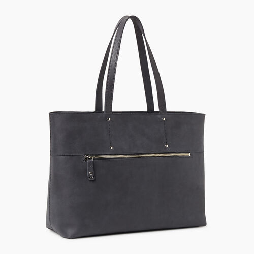 Roots-Leather Handbags-Westmount Tote Tribe-Jet Black-A