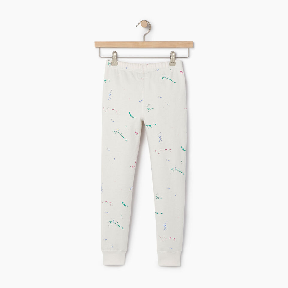 Roots-Kids Our Favourite New Arrivals-Girls Splatter Sweatpant-Cannoli Cream-B