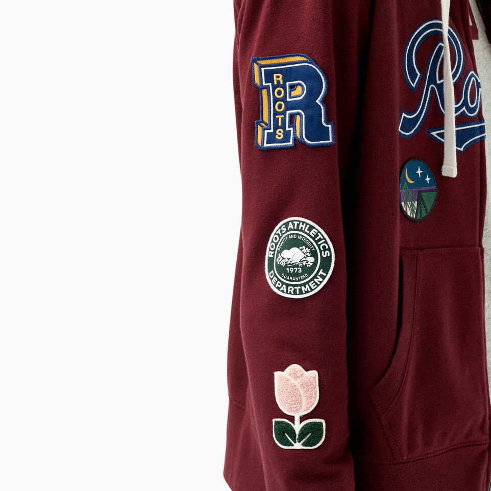 Roots-undefined-Varsity Patches Full Zip Hoody-undefined-E