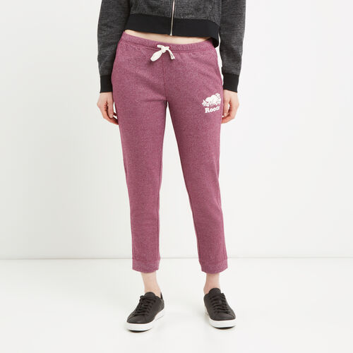 Roots-Women Sweats-Mabel Lake Ankle Sweatpant-Purple Potion Pepper-A
