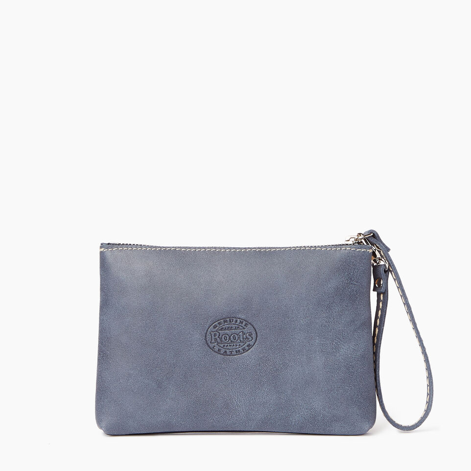 Roots-Leather Categories-Riverdale Pouch-Navy-C