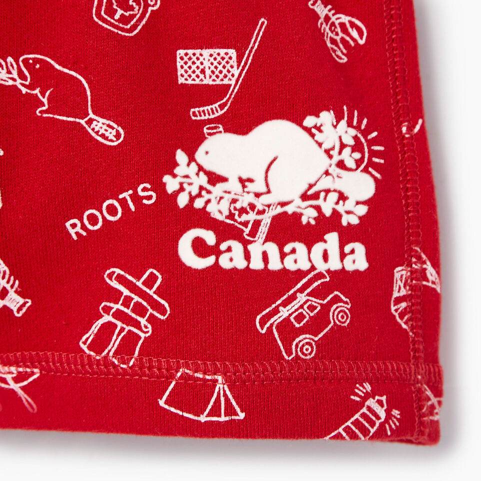 Roots-Kids Our Favourite New Arrivals-Baby Canada Roots Aop Short-Sage Red-D