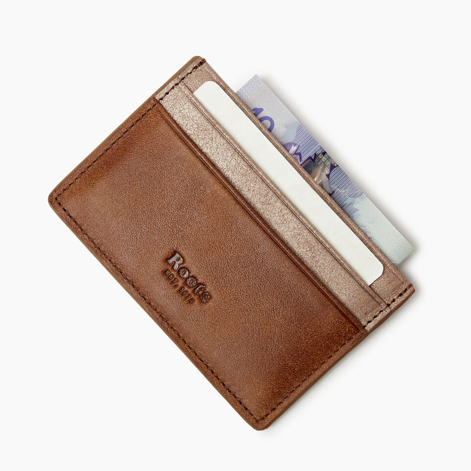 Roots-Women Categories-Card Holder-Champagne/ Natural-D