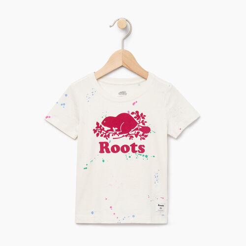 Roots-Kids Our Favourite New Arrivals-Toddler Splatter Aop T-shirt-Cannoli Cream-A
