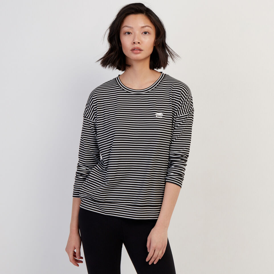 Roots-Women Our Favourite New Arrivals-Journey Long Sleeve Top-White-A