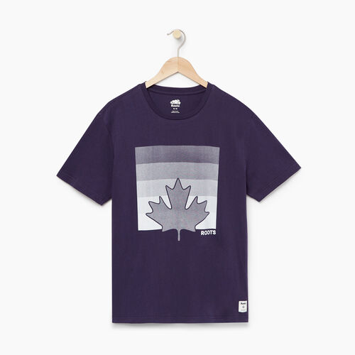 Roots-Men Our Favourite New Arrivals-Mens Maple Icon T-shirt-Eclipse-A
