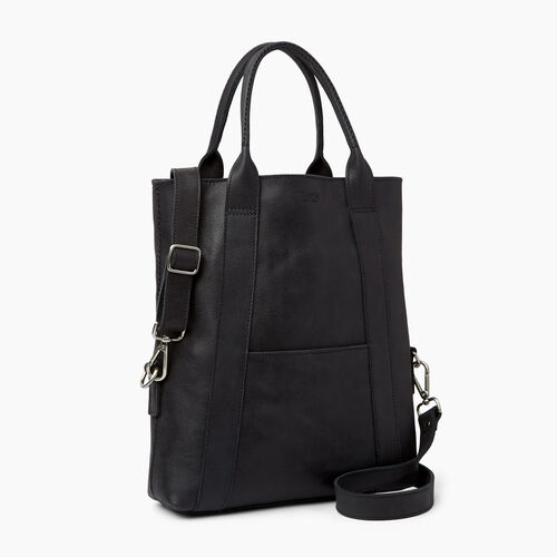 Roots-Leather  Handcrafted By Us Collections-Annex Tote-Jet Black-A