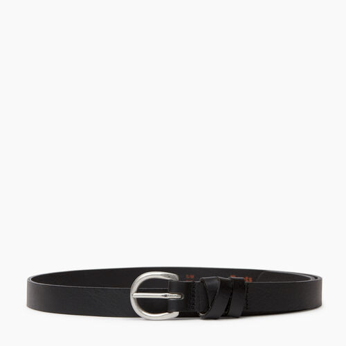 Roots-Women Categories-Roots Womens Cross Loop Belt-Black-A