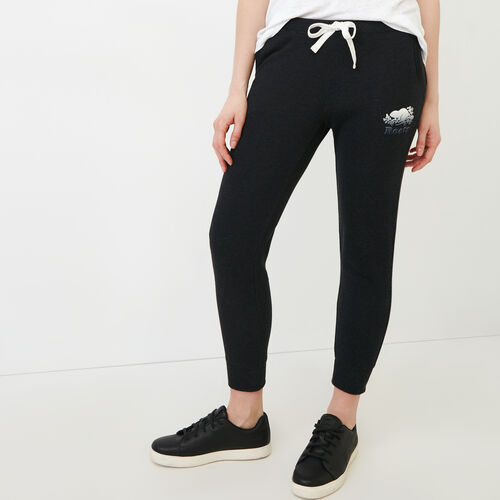 Roots-Women Sweatpants-Guernsey Sweatpant-Black Mix-A