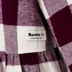 Roots-Kids Dresses-Toddler Park Plaid Dress-Pickled Beet-C