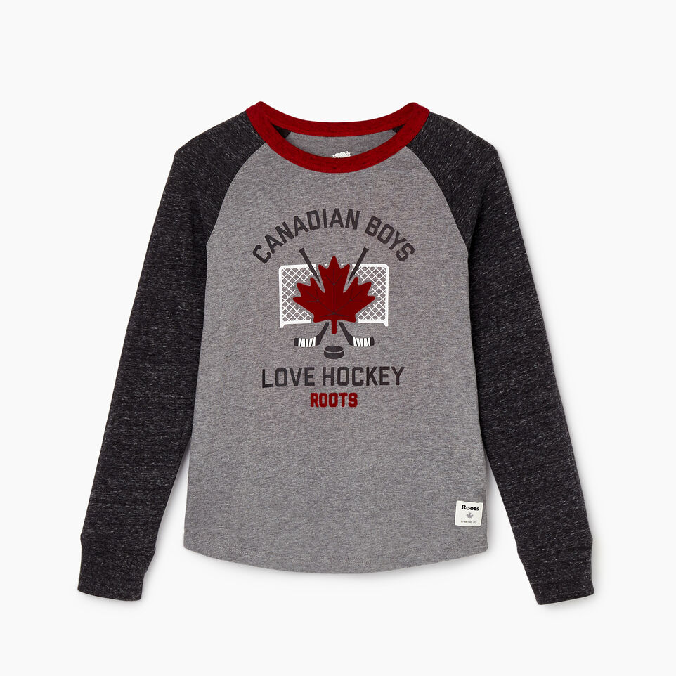 Roots-undefined-Boys Love Hockey T-shirt-undefined-A